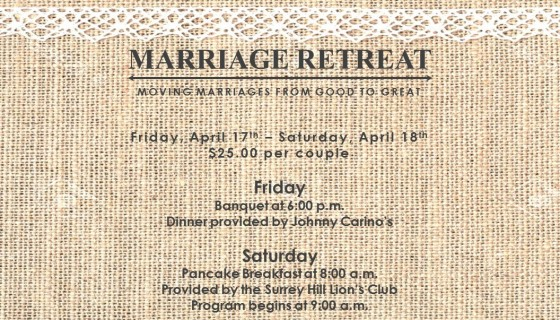 Marriage Retreat 2015